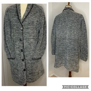 Denim&Co Soft Sweater Cardigan With Pockets L